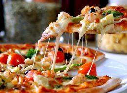 Pizzeria da asporto con forno rotante